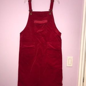 RED VELVET OVERALLS NEVER WORN AMAZING CONDITION